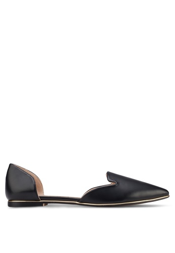 ZALORA black Ballerina Loafers With Metal Trimmings ABWGASH0000095GS_1