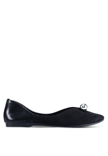 BETSY 黑色 Lucy 珍珠平底鞋 6EEDASHADBFED8GS_1
