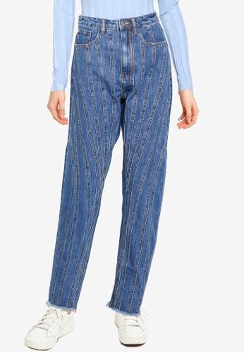 MISSGUIDED 藍色 Riot Seamed Mom 牛仔褲 6F6CBAAB9072BAGS_1
