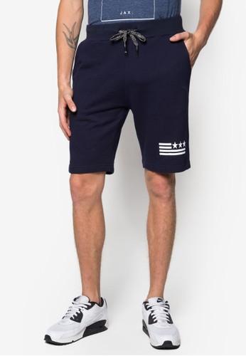 zalora時尚購物網的koumi koumiDasan 印花抽繩休閒短褲, 服飾, 短褲