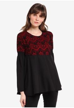 Aqeela Muslimah Wear black Lace Peplum Top 2521AAA1471A9AGS_1