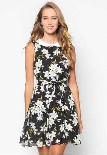 Collection 花卉娃娃領褶飾洋裝, zalora 折扣碼服飾, 洋裝