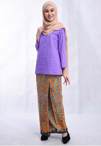 BATIK HOUSE KURUNG KEDAH TRADISIONAL BHKT01-111 (PURPLE) from batik house my in Purple