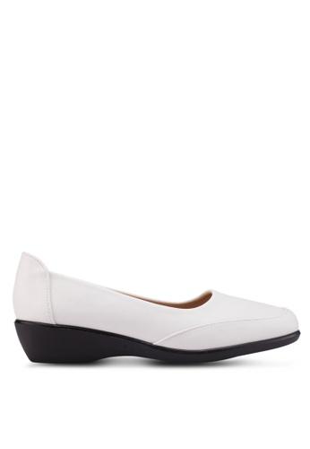 Noveni 白色 休閒楔型鞋 95128SHDB3E92BGS_1