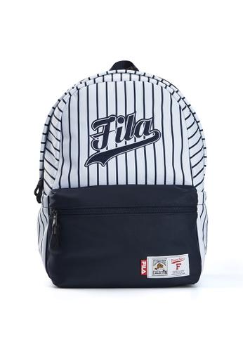 FILA white Online Exclusive FUSION Unisex FILA Logo Stripe Backpack 26BC8AC8BA851CGS_1