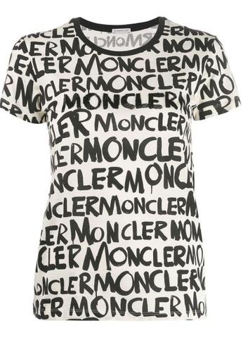 "Moncler black Moncler ""Hanoi""Graffiti Puffer T-Shirt in Black,White 9BE80AAD096BE7GS_1"