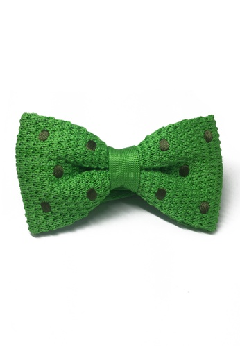 Splice Cufflinks green Webbed Series Army Green Polka Dots Green Knitted Bow Tie SP744AC71UCASG_1