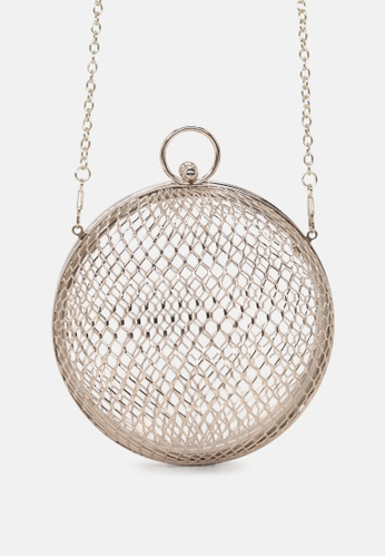 London Rag gold Round shaped metal cage sling bag 5C5FEAC150CB99GS_1