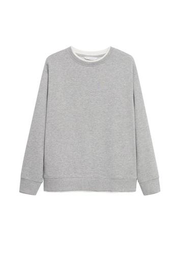 MANGO KIDS grey Basic Cotton Sweater 691F3KA0E15034GS_1