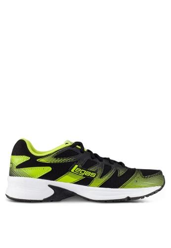 Legas black and green Shadow LA Men's Shoes LE684SH0S2MGMY_1