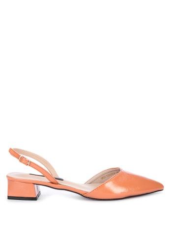 Primadonna orange Pointed Sling Back Heels FBE3FSHC5C8AE4GS_1