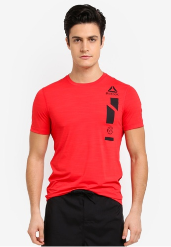 Reebok red Workout Ready Activchill Graphic Tee RE691AA0SVYVMY_1