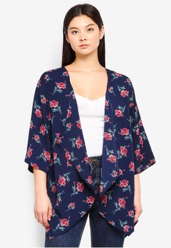 Something Borrowed navy Waterfall Kimono Cardigan 91E2EAA9DC00A8GS_1