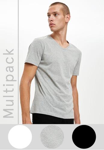 DeFacto multi Man 3 Piece T-Shirt Set D6774AA3687EC1GS_1