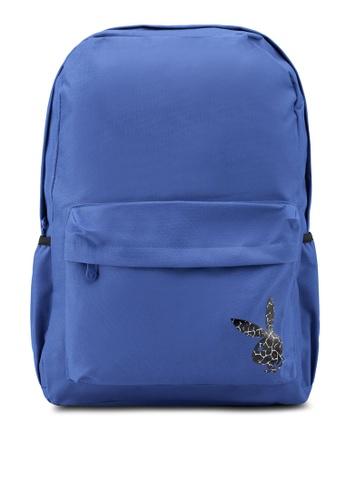 Playboy blue Printed Backpack B2908ACDDF6010GS_1