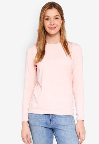 Calvin Klein pink Long Sleeve New Fa Straight Tee - Calvin Klein Jeans 128B6AAA77C0D9GS_1