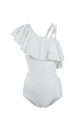 HAPPY FRIDAYS Ruffle Backless One Piece Swimsuit SW-20087 A255EUSBD1AFDBGS_1