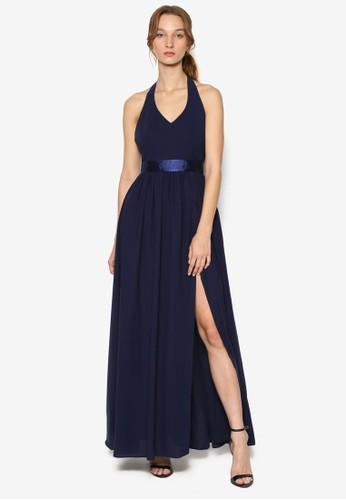 繞領吊帶露背洋裝, 服飾esprit 中文, 洋裝