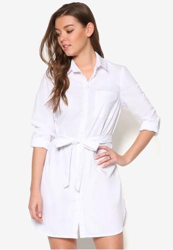 繫帶襯衫式洋裝, 服飾,esprit專櫃 洋裝