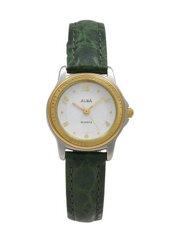 Alba green ALBA Jam Tangan Wanita - Green Silver Gold - Leather Strap - ATCV40 C05F7AC53276F7GS_1