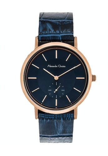 Alexandre Christie blue Alexandre Christie Jam Tangan Wanita - Blue Rosegold - Leather Strap - 8575 LSLRGBU DFBEDACB10DFDEGS_1