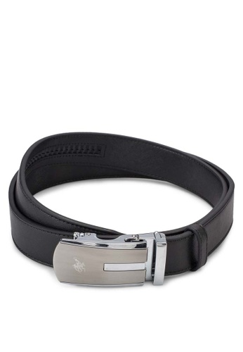 Swiss Polo black Leather Belt SW912AC11ZYIMY_1