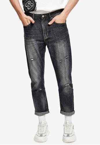 URBAN REVIVO grey Casual Denim Jeans 75B6DAA7782EB3GS_1