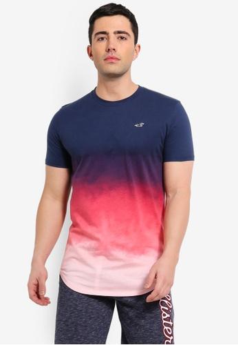 2d87fa247 Buy Hollister Curved Hem Floral T-Shirt Online on ZALORA Singapore