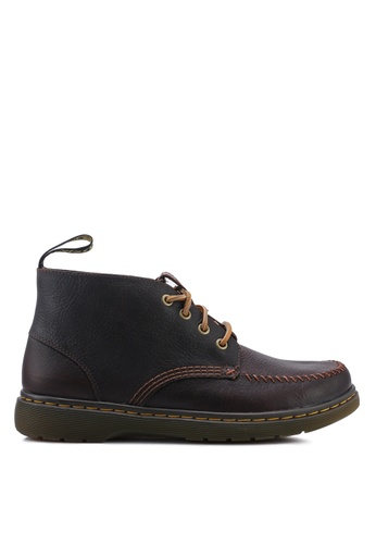 Dr. Martens brown Holt 4 Eye Boots 84673SH25591E3GS_1