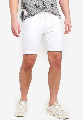 Topman 白色 白色 緊身短褲 6BCA4AA648CD0EGS_1