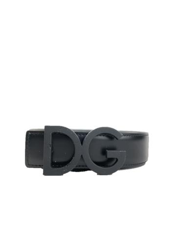 Dolce & Gabbana black PRE-LOVED DOLCE & GABBANA LOGO BUCKLE BELT DF8D3ACFFDCB7DGS_1