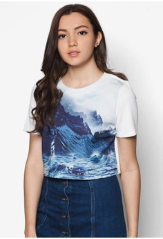 Printed Landscape Boxy Top