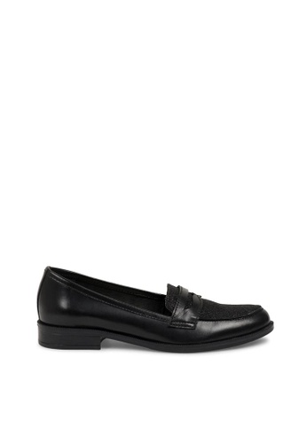 Andre black ADLONG ISLAND Two Tone Leather Loafers AN324SH0FJWHSG_1
