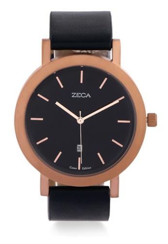 ZECA blue and gold Zeca Watches Couple Man Fashion - 3009M Blue Rosegold FACB2AC926EC07GS_1