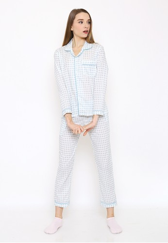 JOYFULIE white Laura Set Pajamas Grey JO581US0WM3GID_1