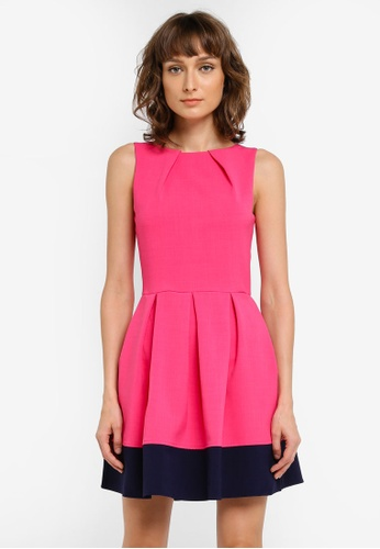 CLOSET pink Hackney Dress CL919AA0SNX9MY_1