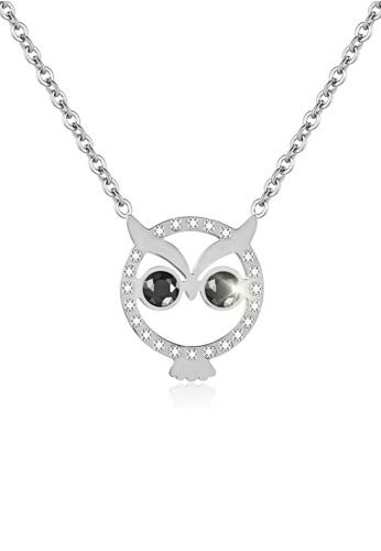 CELOVIS silver CELOVIS - Twilight Owl Pendant Necklace in Silver F139CAC888B558GS_1