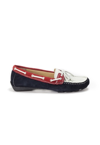 Shu Talk 海軍藍色 AMAZTEP 真皮彩虹輕便豆豆鞋 985C7SH582F0A8GS_1