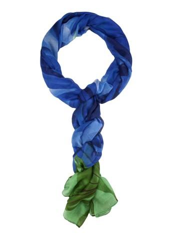 玫瑰zalora 台灣門市印花圍巾, 飾品配件, 披肩