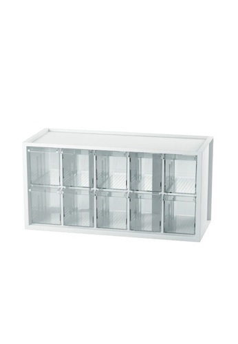 MakeRoom white Middle Plastic Desktop Storage With 20 Drawers 721CAHLC6650AEGS_1