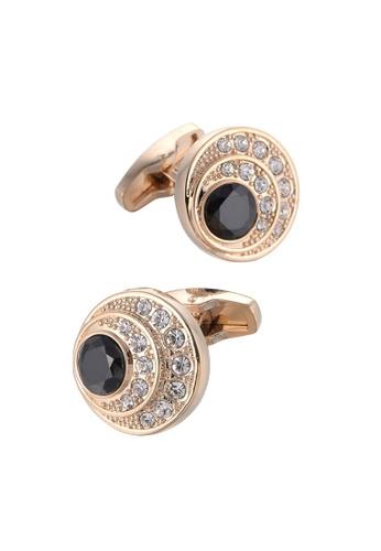 Kings Collection black Trendy Black Crystal Cufflinks (KC10047a) 429A3ACB0D952CGS_1