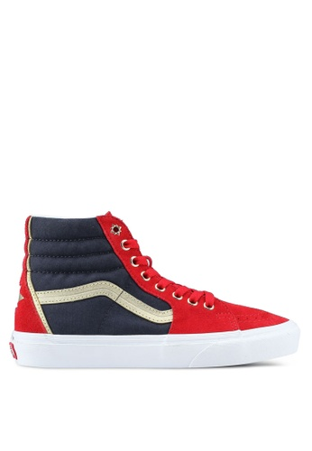 VANS red and multi Sk8-Hi Marvel Sneakers EB55DSH3E55F4BGS_1