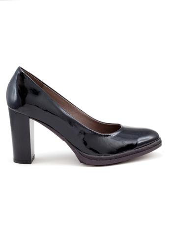 Shu Talk 黑色 熱賣經典修腳型漆皮舒適高跟鞋 SH544SH09MSXTW_1