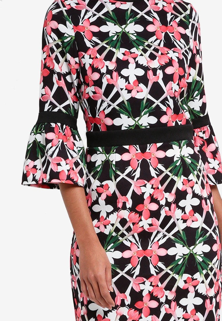 Floral Dolls Paper Mini Bloom Print Dress q8xqOCvw