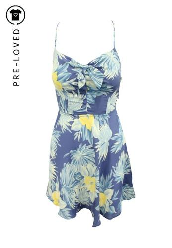 Reformation multi Pre-Loved reformation Blue Floral Print Mini Dress 6A972AAEBF8CECGS_1
