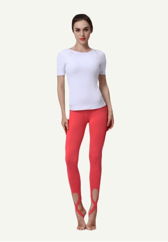 B-Code pink ZYG5028D-Lady Quick Drying Running Fitness Yoga Sports Leggings-Pink 2EAC4AA7EF57D1GS_1