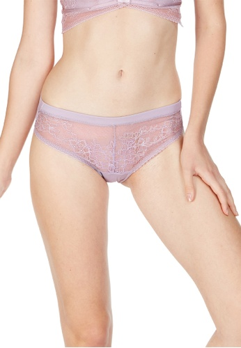 6IXTY8IGHT purple Dasha Solid, Lace Micro Clean Cut Hipster Panty PT09878 02D8DUS7F0BE50GS_1