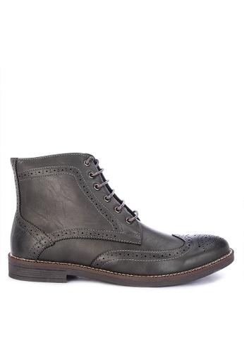 Italianos grey Nolan Formal Shoes 6B74CSH7ADA4DDGS_1