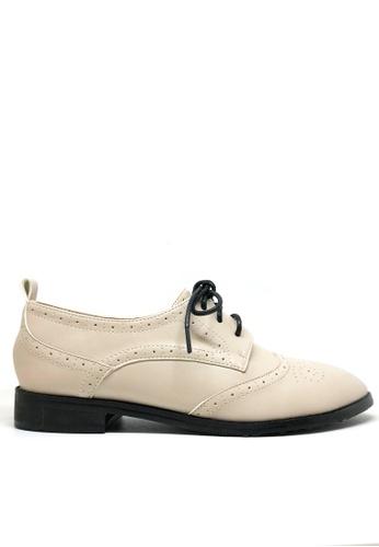 Twenty Eight Shoes beige Girly Oxford Shoes 923-19 EF844SH7126C3FGS_1