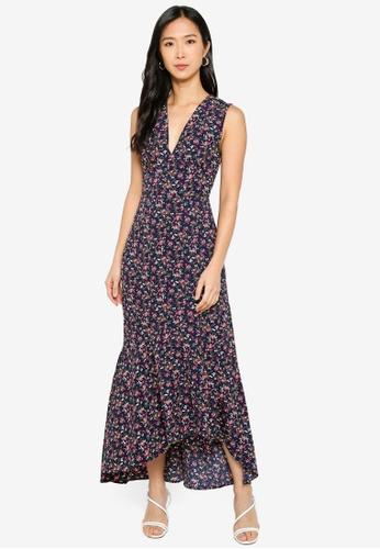 ZALORA BASICS 多色 Sleeveless Hi-Low Midi Dress 14773AAD9D8F81GS_1